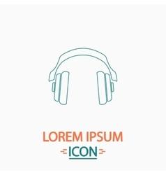 Headphones computer symbol vector