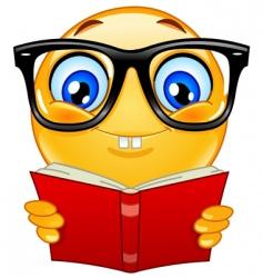 nerd emoticon vector image