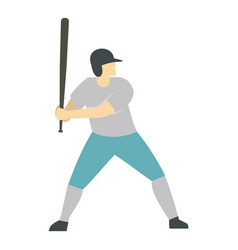 professional baseball player icon isolated vector image