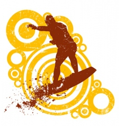 style surfing vector image vector image