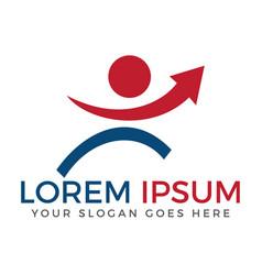 successful businessman logo design vector image