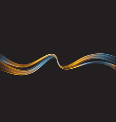 abstract shiny color wave design element vector image
