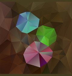 Abstract square background brown opal vector