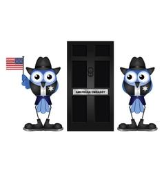 American Embassy vector image