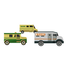 Armored vehicle bank cash van transport car vector