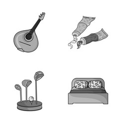 Art sport and other monochrome icon in cartoon vector