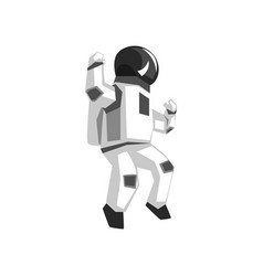 Astronaut in a space suit on a vector