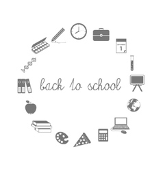 Back to school icons in circle vector