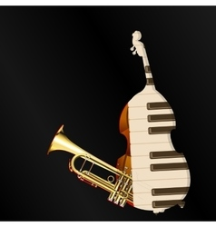 Background music jazz instruments vector
