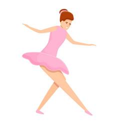 Ballerina toe icon cartoon style vector