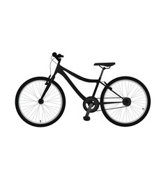 Black bicycle side view vector