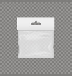 Blank of transparent plastic pocket vector