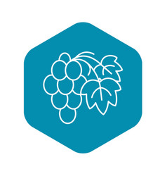 Cabernet grape icon outline style vector