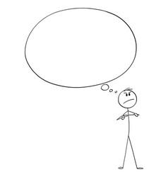 Cartoon angry confident man or businessman vector