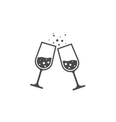 champagne glass image vector image