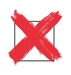 Check mark symbol tick no button dirty grunge vector