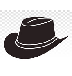 Cowboy hat or bullhide hats flat icon for apps vector