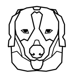 cute beagle dog with funny pose on white vector image