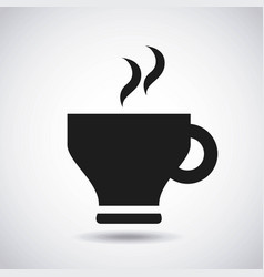 Delicious coffee drink fresh icon vector