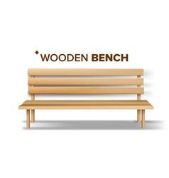 design classical handicraft wooden bench vector image