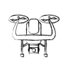 drone with action camera device front view vector image