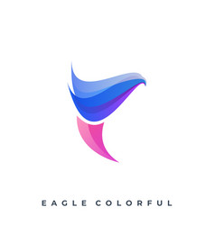 eagle color full template vector image