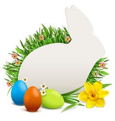 easter rabbit postcard vector image