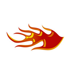 Fire racing logo design template vector
