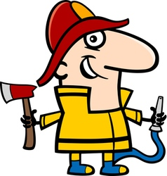 fireman cartoon vector image