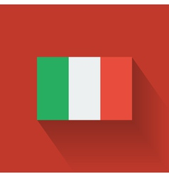 Flat flag of Italy vector