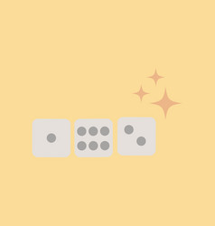 Flat icon on stylish background dice lucky vector