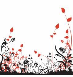 Floral garden design vector