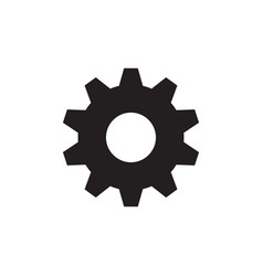 Gear cogwheel - black icon on white background vector