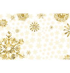 golden winter background vector image