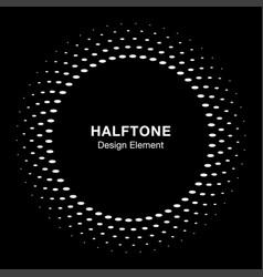 halftone circle frame oval dots emblem background vector image