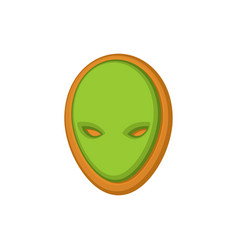 Halloween cookie alien ufo cookies for terrible vector