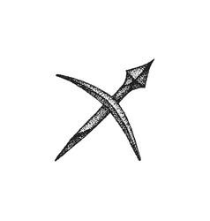 Hand drawn sagittarius sign vector