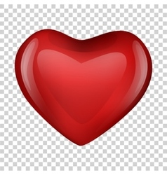 heart on transparent background Valentine day vector image