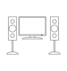 Home cinema with sound speaker icon vector image