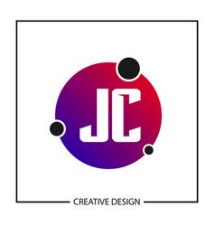 Initial letter jc logo template design vector