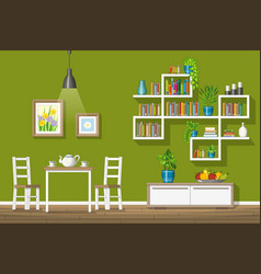 Interior equipment of a modern dining room vector