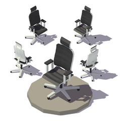 Isometric adjustable armchair vector
