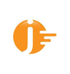 Letter j dash logo design vector