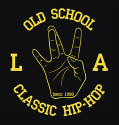 los angeles hip-hop typography for design clothes vector image
