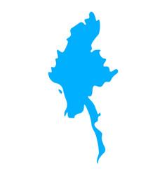 map myanmar vector image