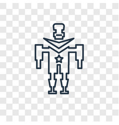 military robot machine concept linear icon vector image