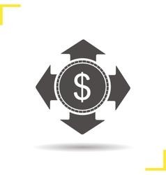 Money spending icon vector