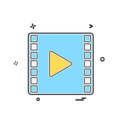 mp4 icon design vector image