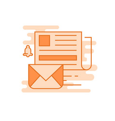 newsletter flat line designed vector image
