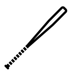 Outline beautiful base ball bat icon vector